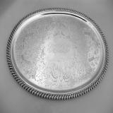 .American Coin Silver Salver Oval 1850