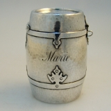 .Coin Bank 14th Century Shreve Sterling Silver 1915 Marie