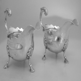 .English Sauce Boats Benjamim Cartwright I Pair 1749 London Sterling Silver