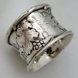 .American Coin Silver Napkin Ring 1853