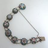 .Russian 84 Standard Silver and Enamel Bracelet 1915
