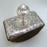 .Ink Blotter Ornate Figural Hanau Sterling Silver 1890