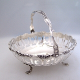 .Baroque Basket Swing Handle Theodore Starr 1890 Sterling Silver
