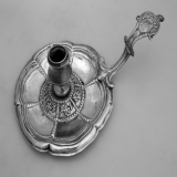 .Late 16th Early 17th Century Chamberstick Spanish Colonial Silver