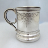 .American Coin Silver Baby Cup 1870