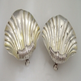 .Shell Open Salts Charles Thomas Fox 1829 Pair London Sterling Silver.