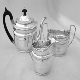 .Robert, David and Samuel Hennell Sterling Silver Period Tea Set London 1801