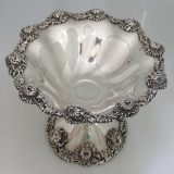 .Sterling Silver Chrysanthemum Compote Dominick and Haff 1896