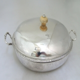 .John Robinson Covered Dish Ostrich Crest London 1766 Sterling Silver