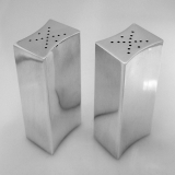 .Allan Adler Sterling Silver Modernist Salt Pepper Shakers  1950