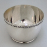 .Greek Key Baby Bowl American Sterling Silver Gorham 1920