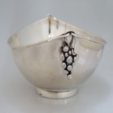 .Danish Sterling Silver Bowl Ernst Dragsted Figural Grapes 1940