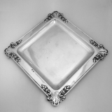 .Austrian Arts and Crafts Square Serving Tray 800  Silver 1910