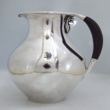 .Danish Sterling Silver Pitcher Ebony Handle Georg Jensen 1925