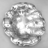 .Poppy Serving Bowl Gorham 1902 Huge Sterling Silver