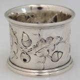 .American Coin Silver Acorn Napkin Ring 1860