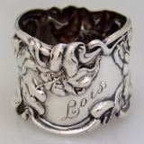 .Sterling Silver Napkin Ring Florence Frank Whiting 1910