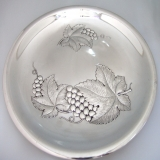 .Repousse Grape Tray Wallace 1950 Sterling Silver