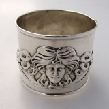 .Art Nouveau Sterling Silver Napkin Ring W Kerr 1900