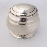 .Arts and Crafts Hammered Tea Caddy Danish 830 Silver 1919