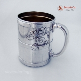 .Tiffany Grape Barrel Vine Mug December 25th 1871 Sterling Silver
