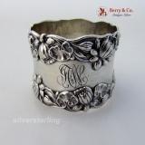 .Pond Lily Napkin Ring Gorham B208 Sterling Silver 1890 JCW