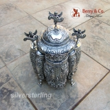 .Spanish Colonial Peruvian Coca Leaf Box 18th Century Sterling Silver