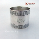 .Aesthetic Engraved Napkin Ring Gorham 1879 Sterling Silver
