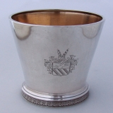 .Beaker Albert Coles French American Presentation Coin Silver 1870