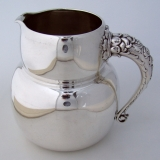 .Aesthetic Water Pitcher Whiting 1880 Sterling Silver