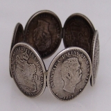 .Hawaiian Napkin Rings Quarter Dollars 1883 Shreve San Francisco