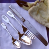 .Imperial Russian Flatrware Set Ovchinnikov 1865