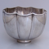 .Buccellati Serving Bowl Hammered Sterling Silver 1950