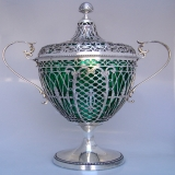 .Chestnut Vase Large Dutch Sterling Silver 1908