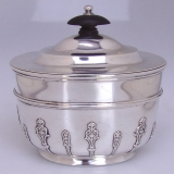 .Tea Caddy Sterling Silver Holland Aldwinckle And Slater London 1897