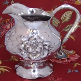 .Art Nouveau Water Pitcher Chrysanthemum International Sterling Silver 1910