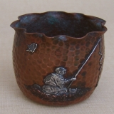 .Gorham Mixed Metals Fisherman Toothpick Holder 1881