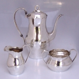 .Porter Blanchard 3 Piece Hand Made Coffee Set Sterling Silver