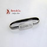 .Sterling Silver Napkin Ring Lebkuecher  1900