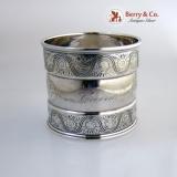 .Gorham Napkin Ring Sterling Silver 1882