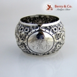 .English Barrel Shaped Sterling Silver Napkin Ring 1896