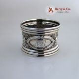 .Sterling Silver Floral Napkin Ring 1890