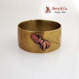 .Mixed Metals Napkin Ring Insects 1880