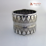 .Gorham Sterling Silver Napkin Ring 1896