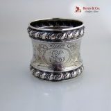 .Beautiful German 800 Silver Napkin Ring 1890