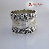 .Silver Anniversary Napkin Ring Sterling Silver 1909