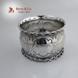 .Twisted Rope Napkin Ring Coin Silver 1860 WA from FAM Monogram