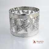 .Grape Cut Out Napkin Ring Sterling Silver 1910