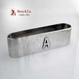 .Arts and Crafts Rectangular Napkin Ring Randahl Sterling Silver 1930