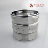 .Aesthetic Napkin Ring Allie Remembrance Coin Silver 1875